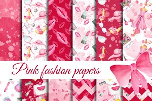 Pink fashion patterns