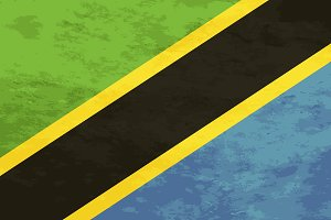 True proportions Tanzania flag
