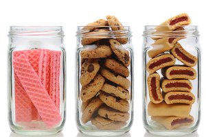 Three Cookie Jars