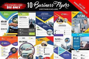 10 Business Flyer Bundle