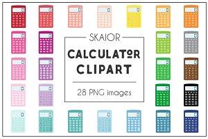 Rainbow Calculator Clipart