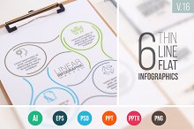 Linear elements for infographic v.16