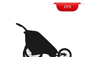 stroller for running, icon
