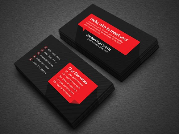 Personal business cards template flashek Choice Image