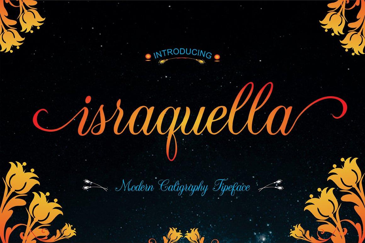 Israquella script 30 off script fonts creative market fandeluxe Choice Image
