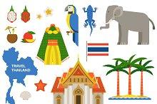 Thailand travel vector