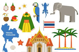 Thailand travel vector