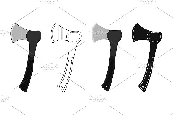 Axes set. Vector - Illustrations