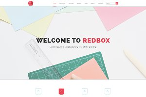 RED BOX Multipurpose PSD Template