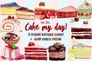 Watercolor Cakes - Cake My Day!