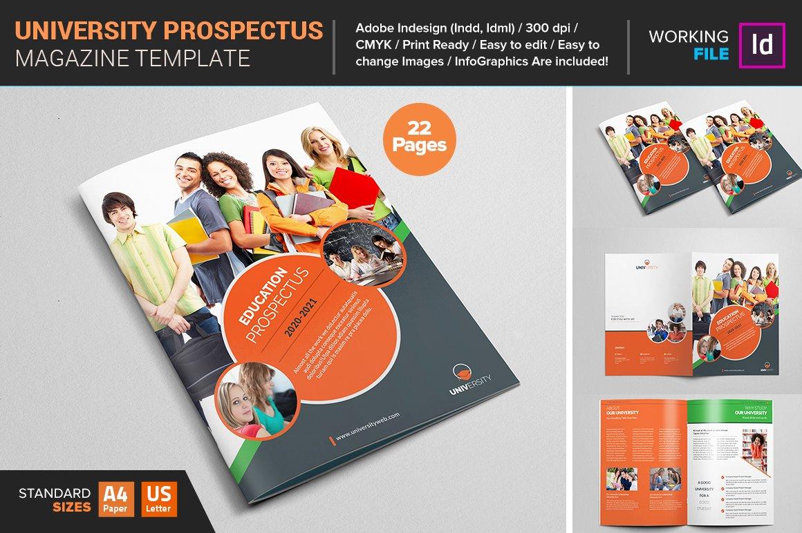 College university prospectus magazine templates for College brochure templates