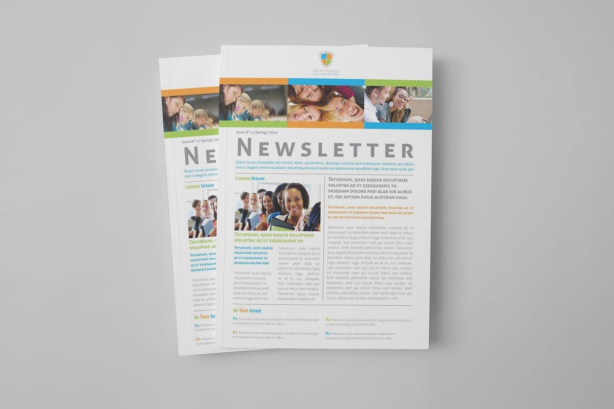 Educational Newsletter Template Brochure Templates Creative Market
