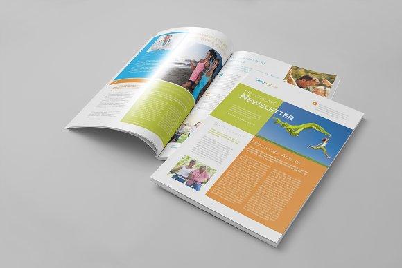 Healthcare Newsletter Template Brochure Templates Creative Market