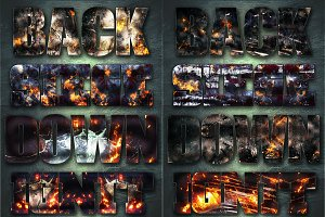 32 Extreme War Layer Styles Bundle 1