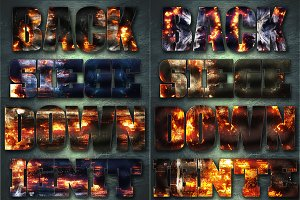 32 Extreme War Layer Styles Bundle 2