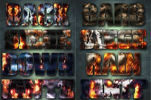 32 Extreme War Layer Styles Bundle 3