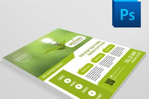 Green Energy Flyer Template - V23