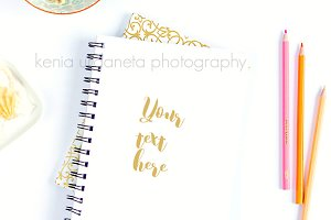 Styled Stock Notebook photography