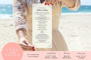 Wedding Program Template P1006
