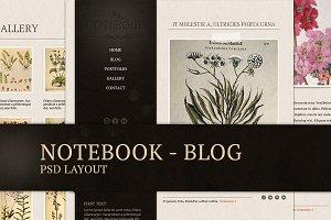 Notebook - blog template