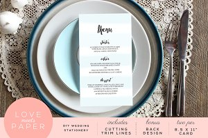 Wedding Menu M1021