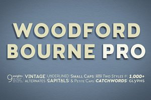 Woodford Bourne PRO - 18 Font Family