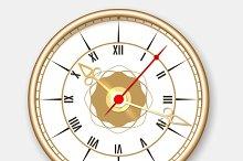 Retro wall clock icon