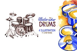 Watercolor drums