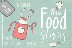 Three Food Stories [Font Trio]