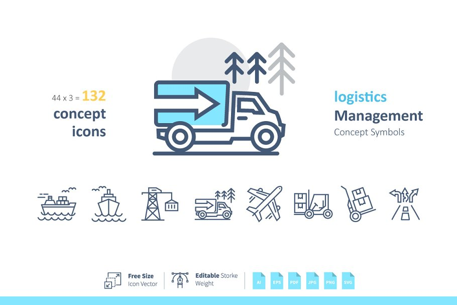 Logistics Management Symbols ~ Icons ~ Creative Market