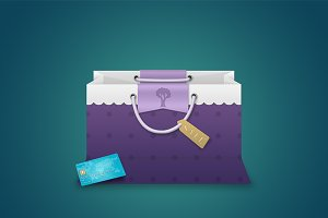 Bag with a Creditcard