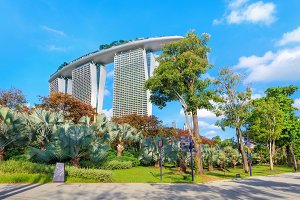 Gardens by the bay and famouse Marina Bay Sands