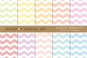 Digital Papers - Chevron II Pastels