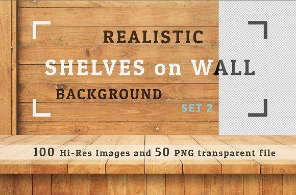 100 Realistic Shelves on Wall. Set 2 by FWStudio