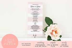 Wedding Program Template P1003