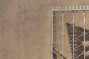 Openwork metal gate