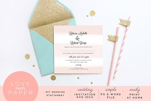 Wedding Invitation Template I2003