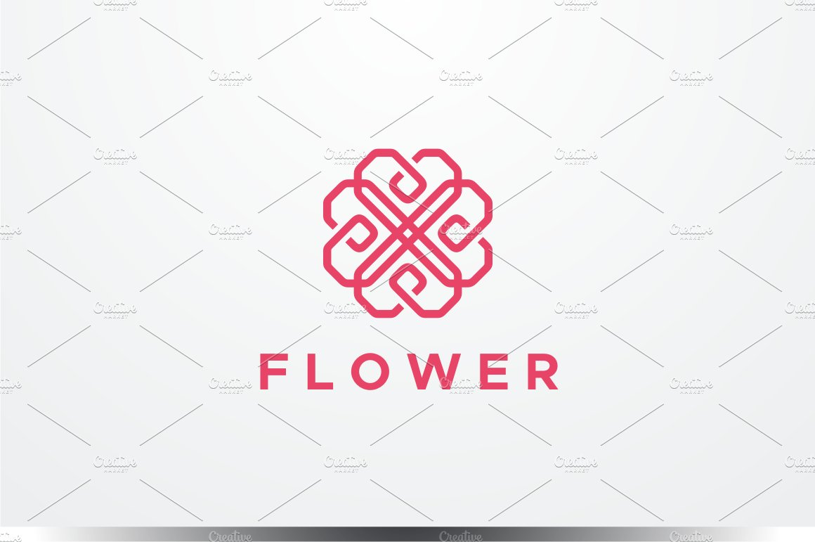 Abstract Flower Logo Logo Templates Creative Market