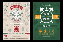 Back to school party invitation card
