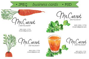 Dietologist business cards