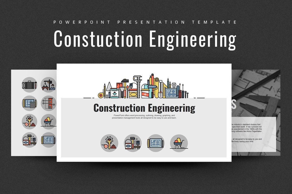 Construction engineering ppt presentation templates creative construction engineering ppt presentation templates creative market alramifo Images