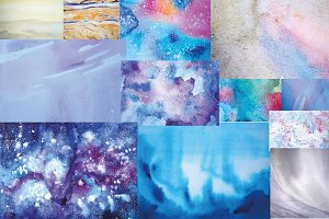 50% off watercolor textures&circles