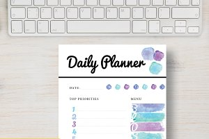 Watercolor Planner - Personal Size