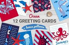 12 Ocean Cards + Bonus Patterns