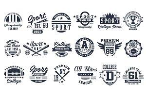Sport Emblems Logos