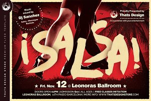Salsa Flyer Template V5