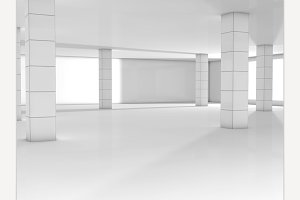 white room render