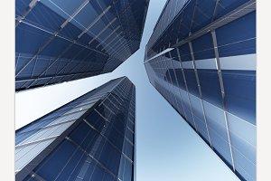 skyscraper 3d rendering