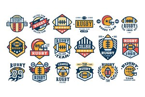 Set of Rugby club emblems