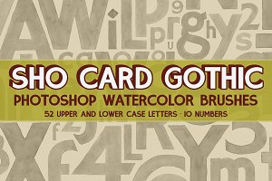 Sho Card Gothic Watercolor Brushes